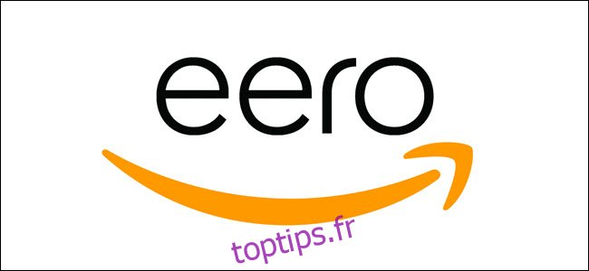 Logo Flèche Amazon avec logo Eero