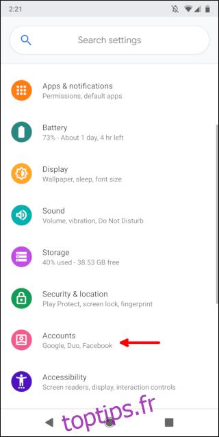 Comment transférer des contacts vers un nouveau téléphone Android