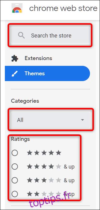 Comment ajouter et supprimer des thèmes dans Chrome
