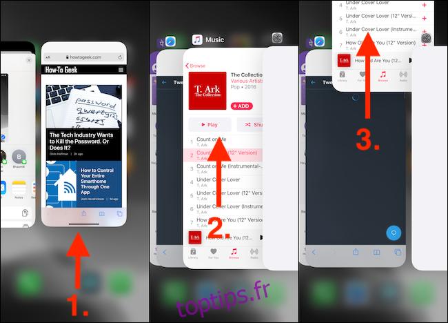 Quitter les applications depuis App Switcher sur iPhone