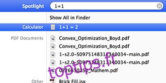 Recherche Spotlight Maths simples