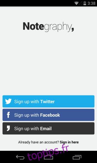 Notegraphy est une application similaire à Instagram pour la typographie