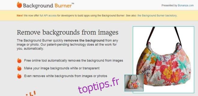 Le brûleur d'arrière-plan vous aide à supprimer l'arrière-plan des photos