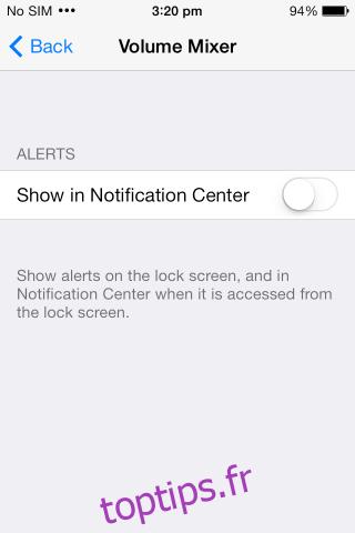 centre de notification