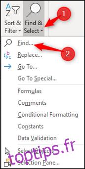 Comment rechercher et remplacer du texte et des nombres dans Excel