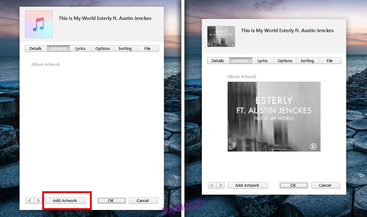 Comment ajouter manuellement une pochette d'album dans iTunes