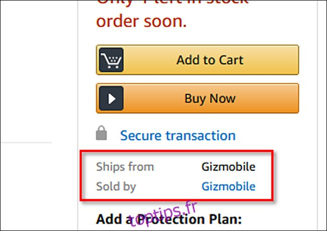 Une liste de produits sur Amazon qui