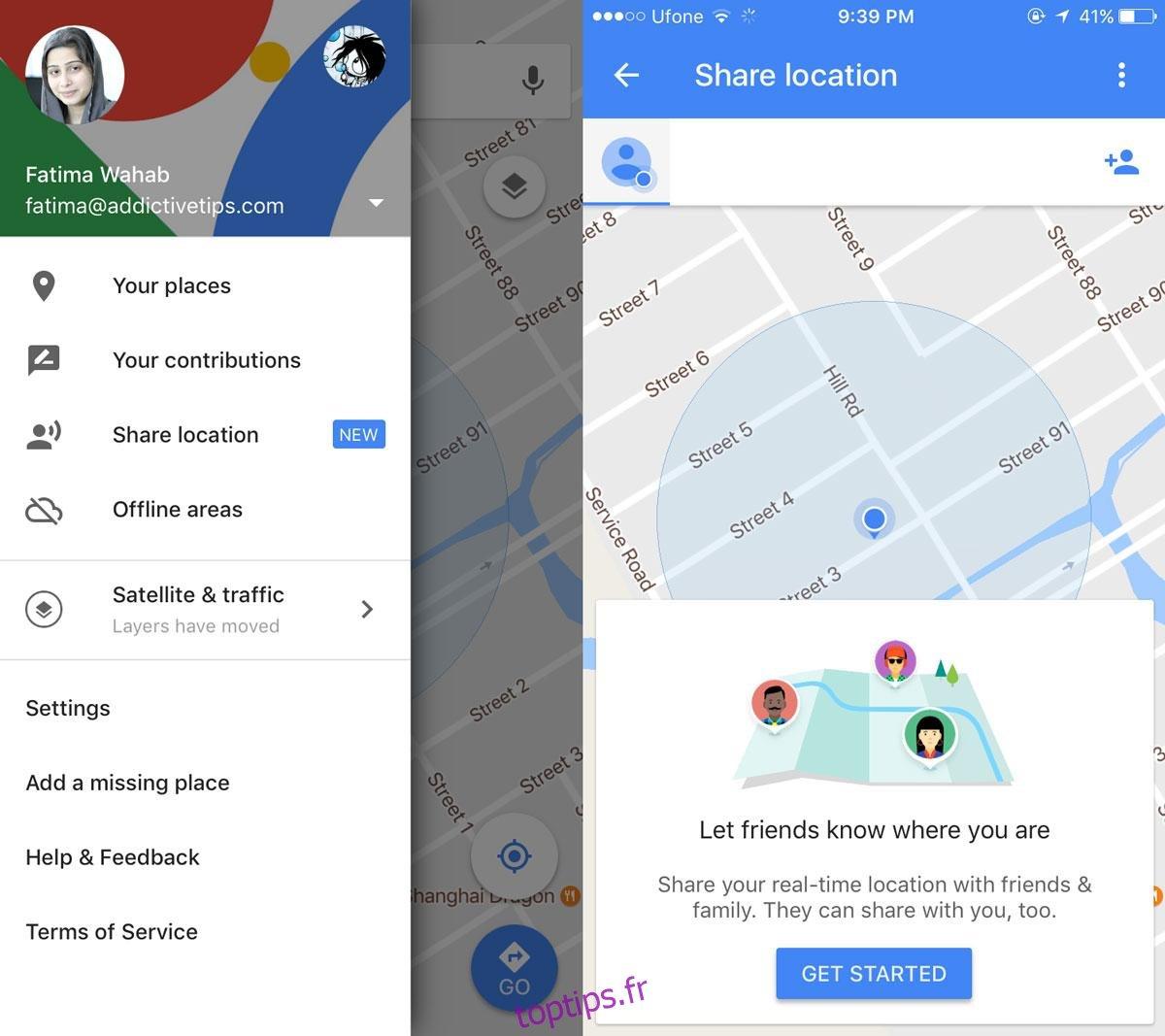 Comment partager votre position en direct sur Google Maps avec des amis