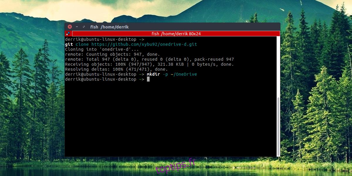 Comment accéder à Microsoft OneDrive sous Linux