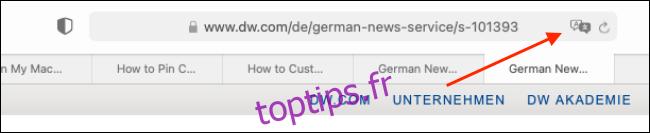 Comment traduire des pages Web dans Safari sur Mac