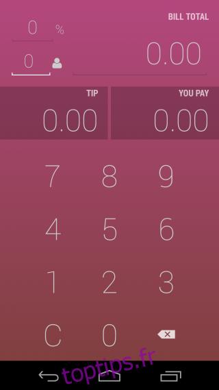 Calculez combien vous devez payer et pourboire lors du fractionnement de la facture