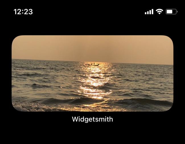 Widget photo sur l'écran d'accueil de l'iPhone