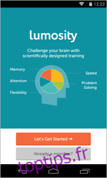 Lumosity apporte son service de taquineries cérébrales sur Android