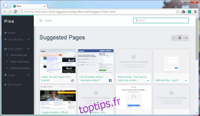 Pine est un magnifique gestionnaire de marque-pages entièrement intégré à votre navigateur [Chrome]