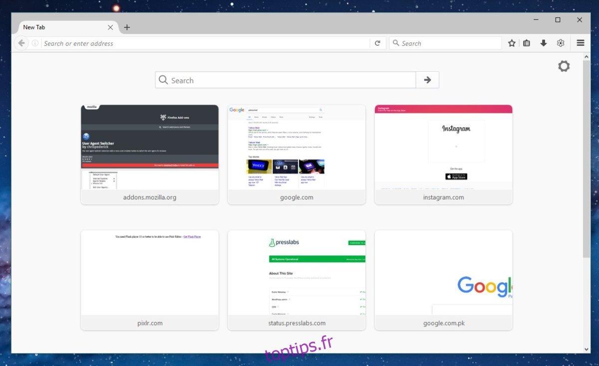 Comment ajouter un site Web à la numérotation rapide dans Firefox