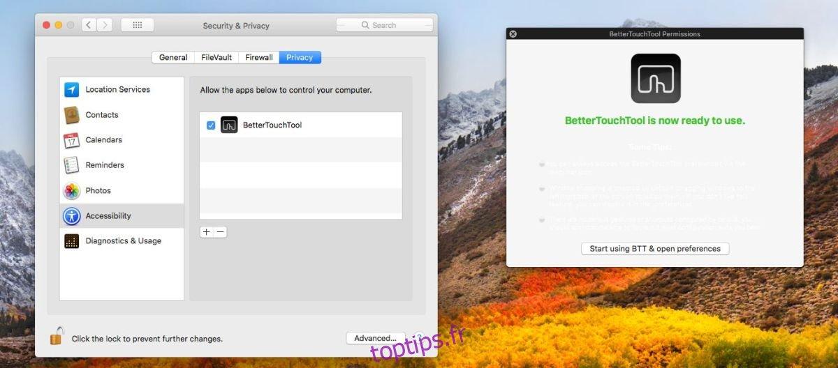 Comment ajouter un bouton personnalisé à la barre tactile sous macOS