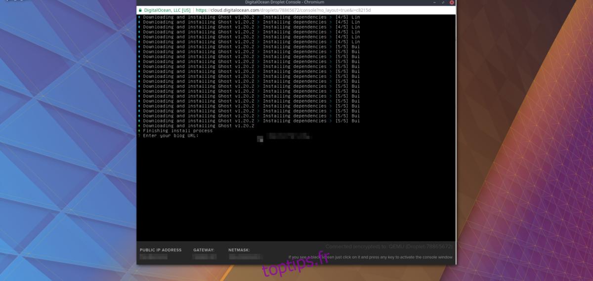 Comment installer Ghost sur le serveur Ubuntu