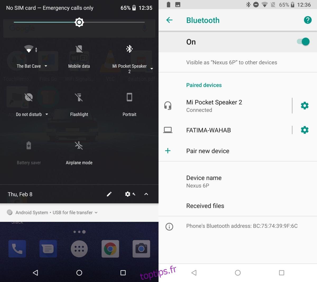 Comment afficher les niveaux de batterie des appareils Bluetooth connectés à votre téléphone Android