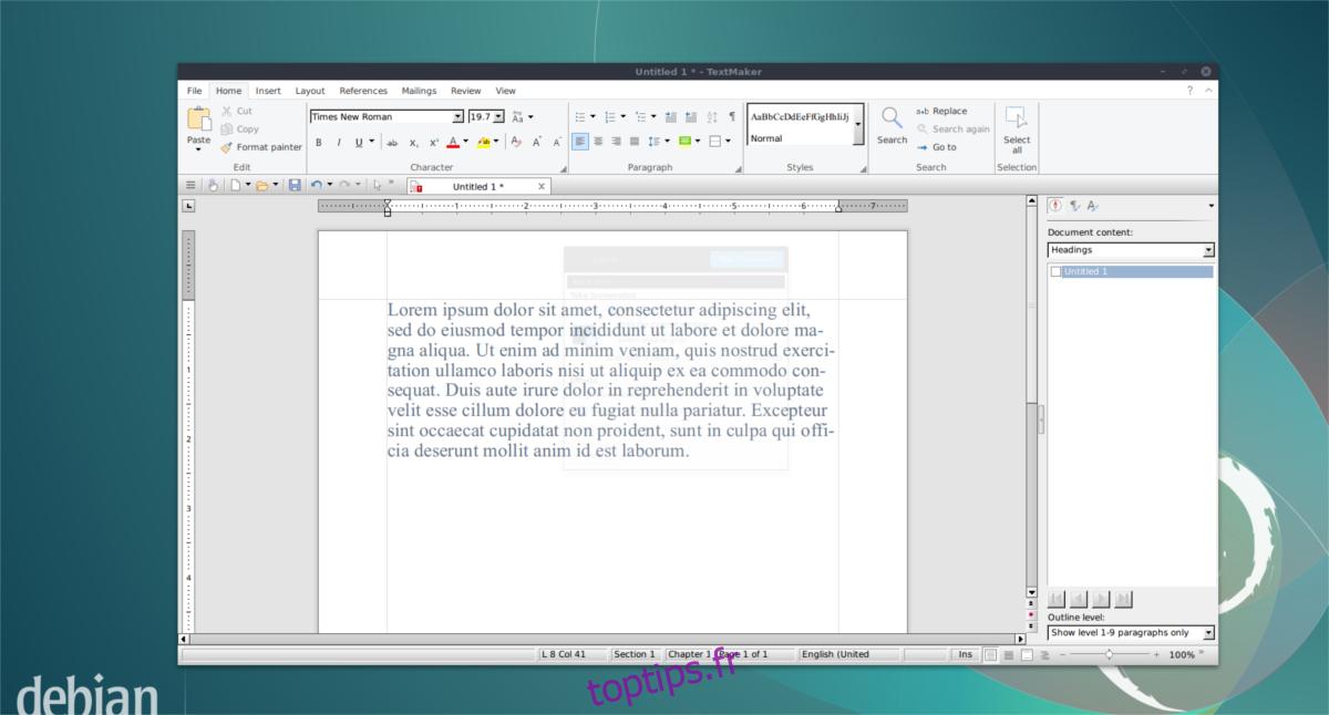 Comment installer la version d'évaluation de Softmaker Office 2019 sur Linux