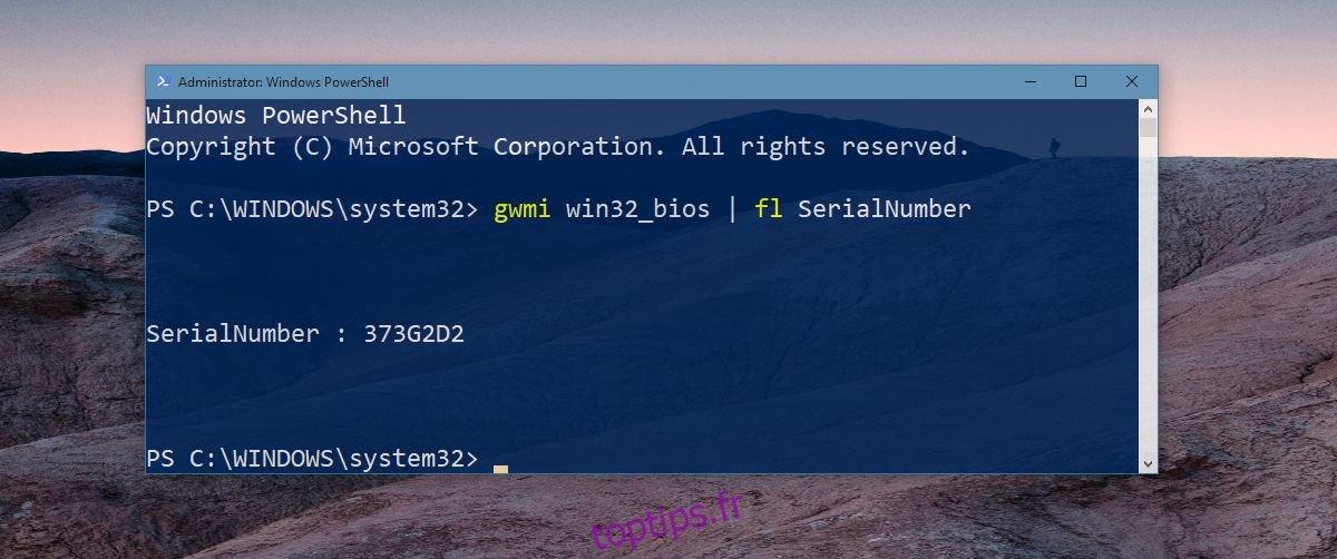 Comment trouver le numéro de série de votre ordinateur portable pour les téléchargements de services et de pilotes