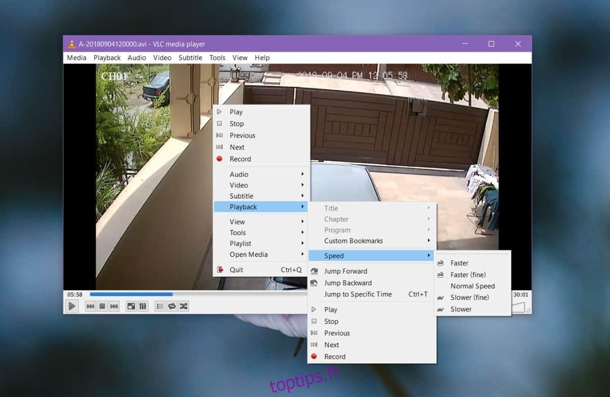 Comment utiliser VLC pour examiner les images de la caméra de sécurité