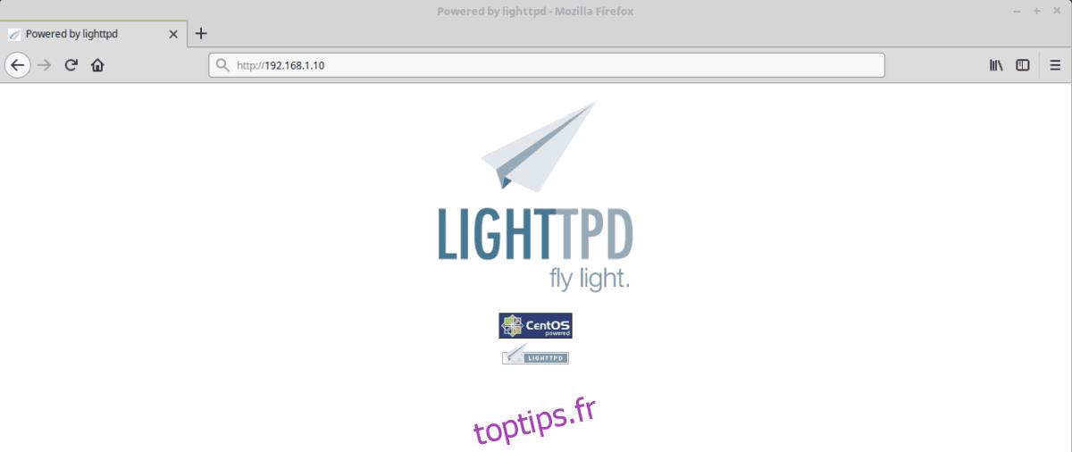 Comment installer le serveur Web Lighttpd sous Linux