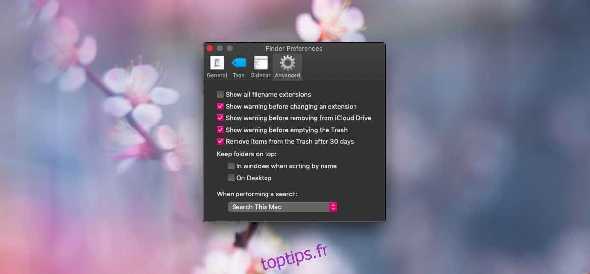 Comment afficher les extensions de fichiers sur macOS