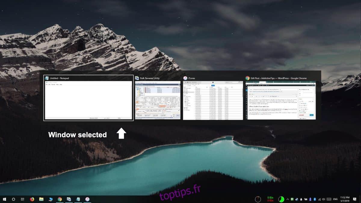 Comment fermer une fenêtre de la vue des tâches sous Windows 10