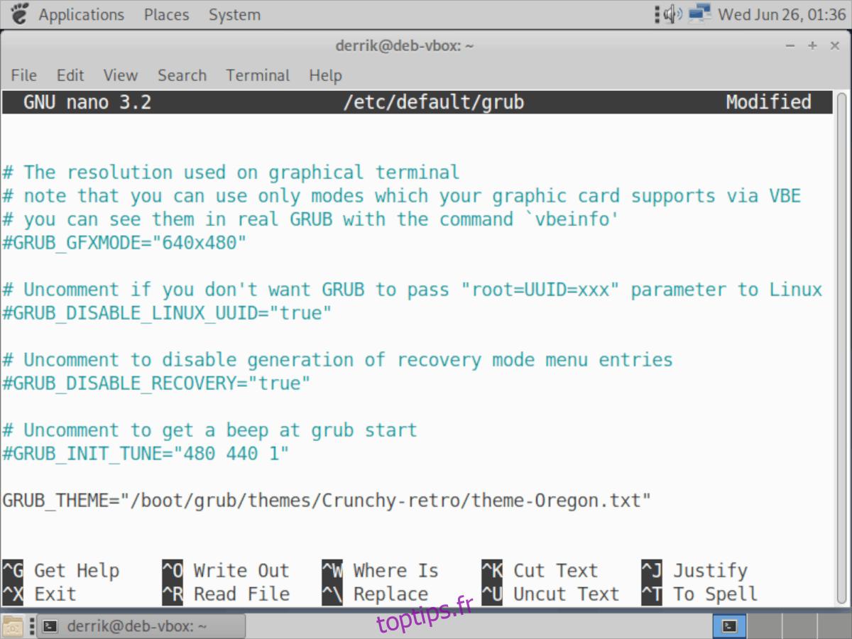 Comment installer le thème Ambiance Crunchy Grub2 sur Linux