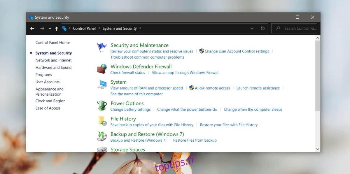 Comment accéder aux options d'alimentation du panneau de configuration sur un bureau Windows 10