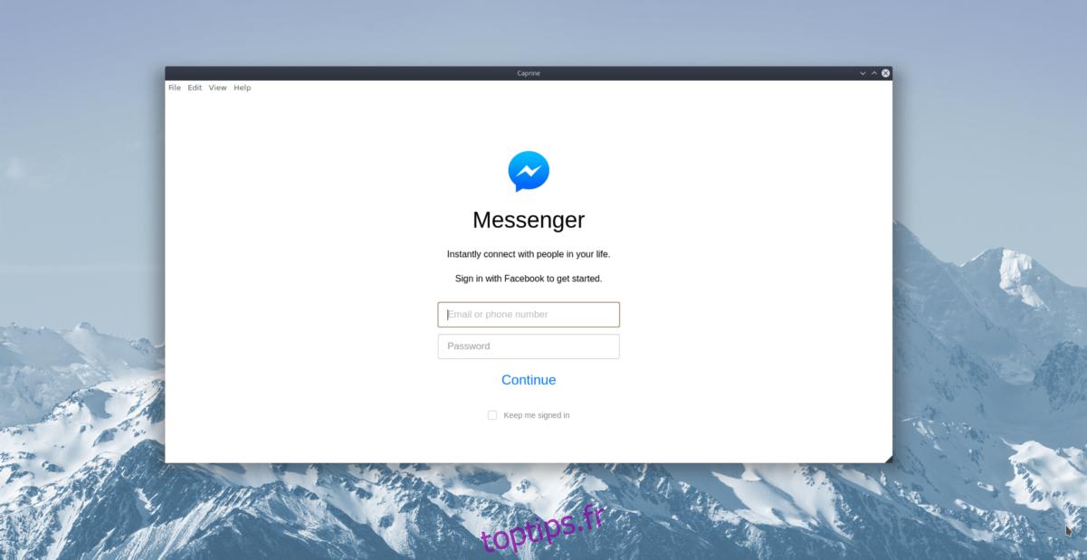 Comment accéder à Facebook Messenger sur le bureau Linux avec Caprine