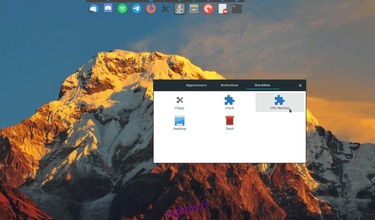Comment ajouter des docklets à Plank Dock sous Linux