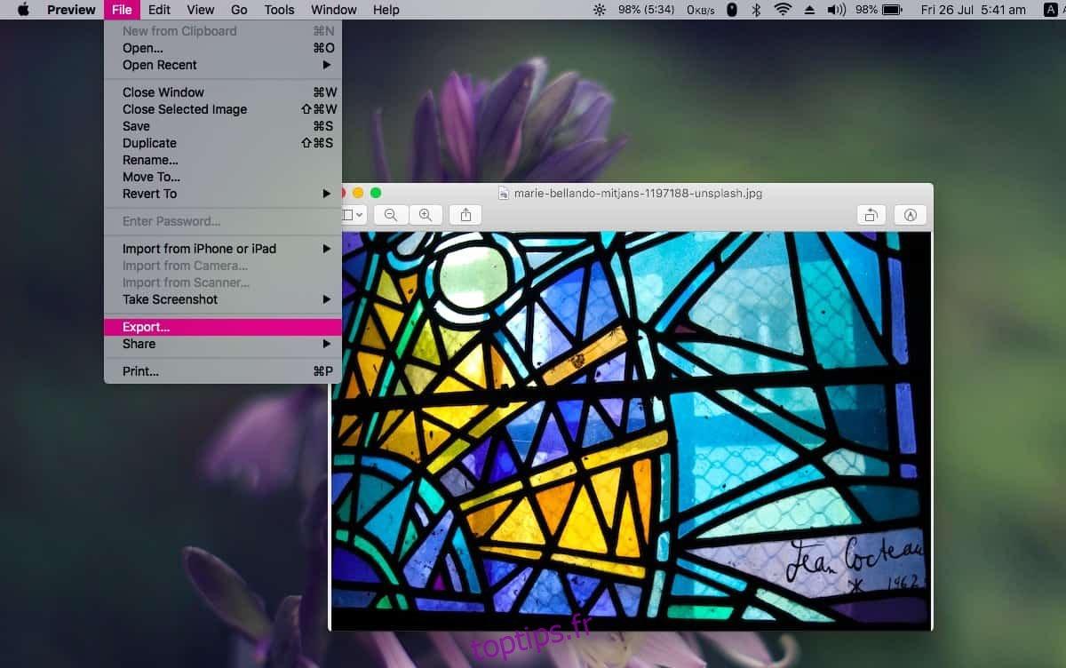 Comment afficher les formats d'exportation masqués dans Aperçu sur macOS