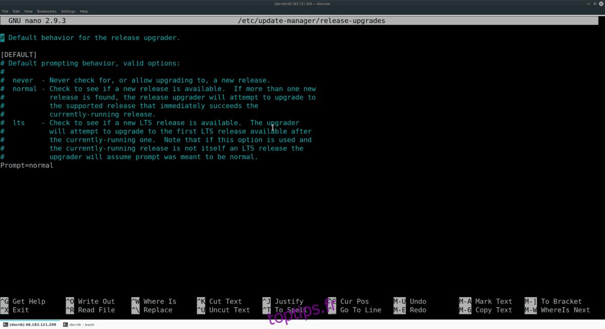 Comment mettre à niveau Ubuntu Server