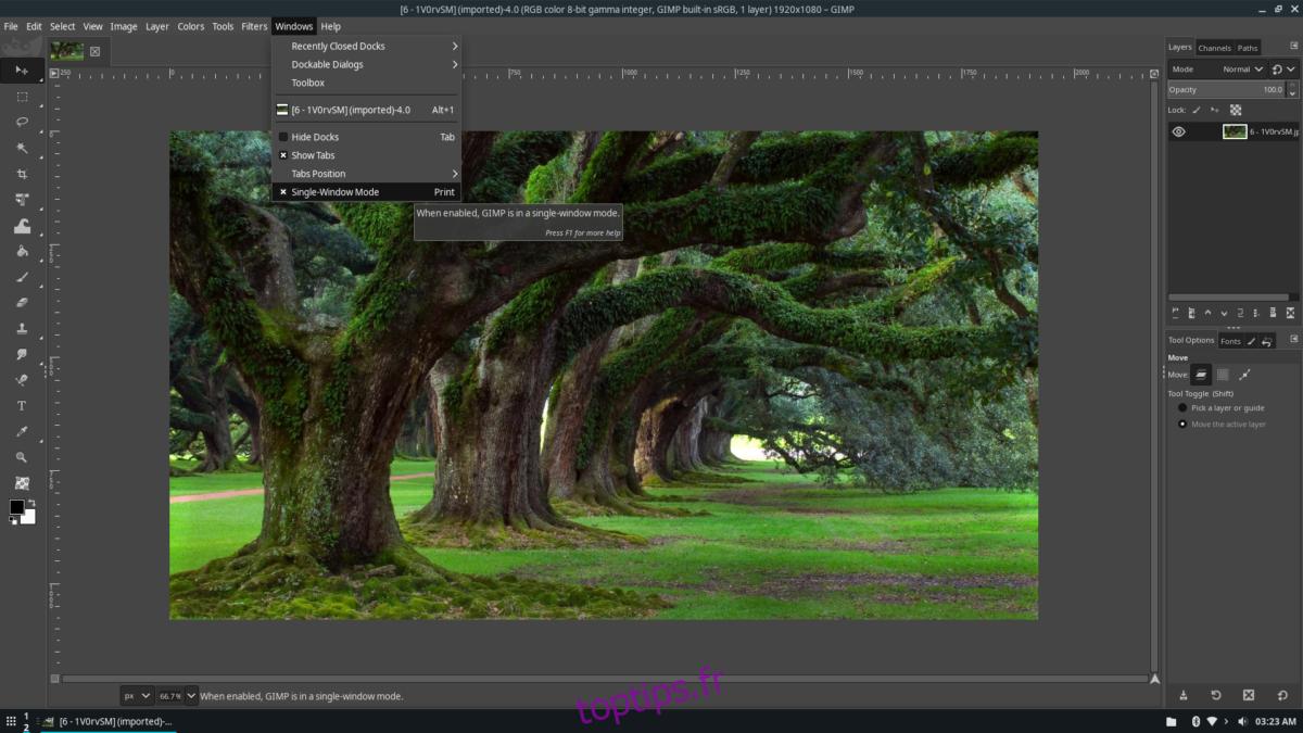 Comment faire ressembler Gimp à Adobe Photoshop sous Linux