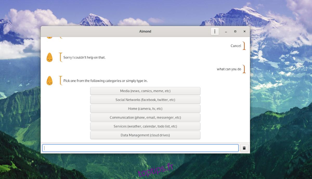 Comment utiliser l'assistant open-source Almond sous Linux