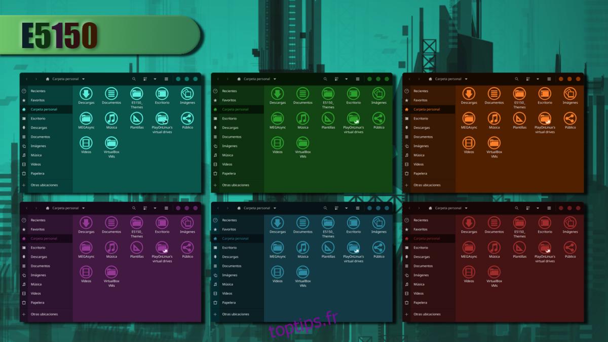 Comment installer le thème E5150 GTK sous Linux