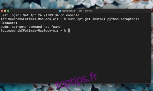 (FIXED) Commande Apt-get introuvable sur Mac