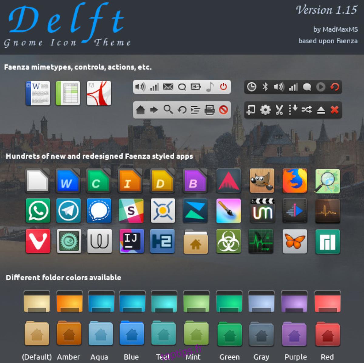 Comment installer le thème d'icônes Delft sous Linux