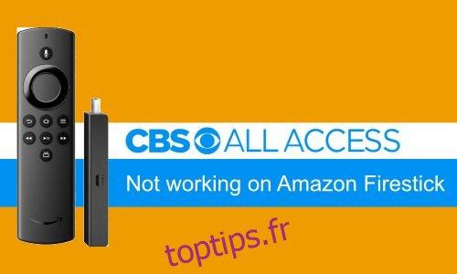 Comment réparer CBS All Access ne fonctionne pas sur Amazon Firestick