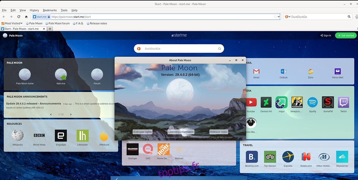 Comment utiliser le navigateur Pale Moon sur Linux