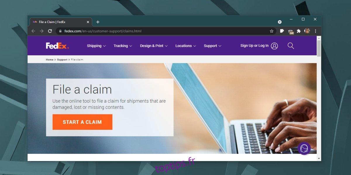 Comment vérifier l'état d'une réclamation FedEx